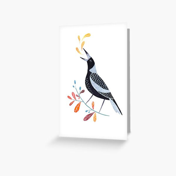 Magpie Greeting Card