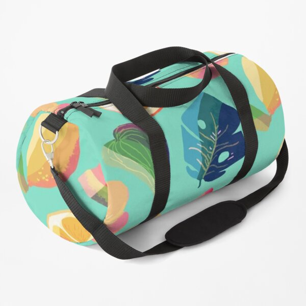 Tropical fruit pattern green Duffle Bag