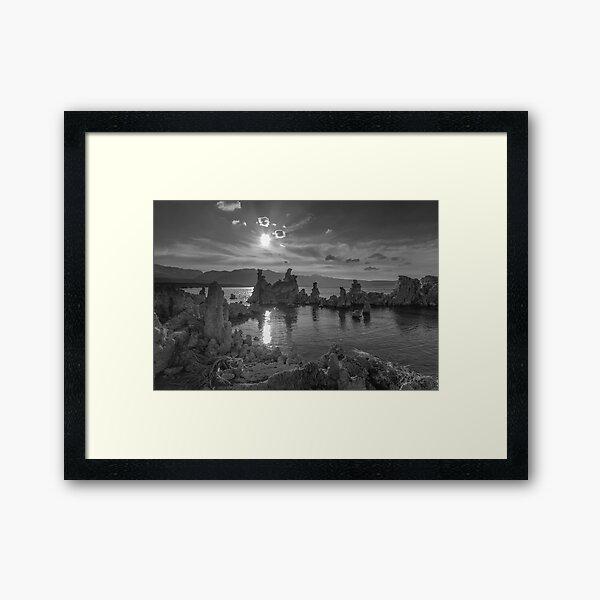 Mono Lake Sunset  Framed Art Print
