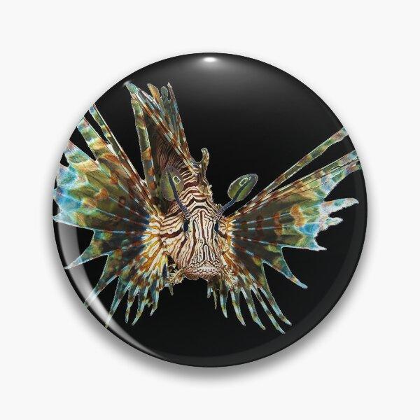 Feuerfisch abstrakt | Unterwasserkunst schwebender Fisch |  Button