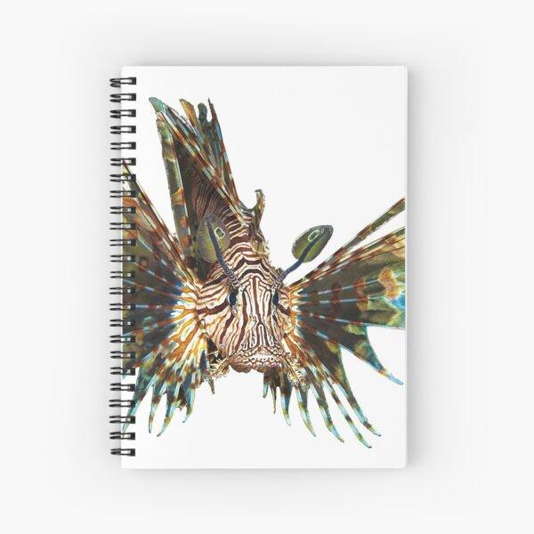 Feuerfisch abstrakt | Unterwasserkunst schwebender Fisch |  Spiralblock