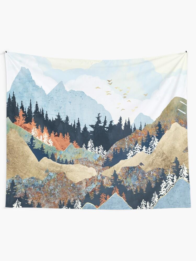 Alternate view of Spring Flight Tapestry