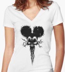 Hammer Mouse of Horror Women's Fitted V-Neck T-Shirt