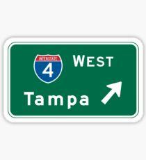 Tampa, FL Road Sign, USA Sticker
