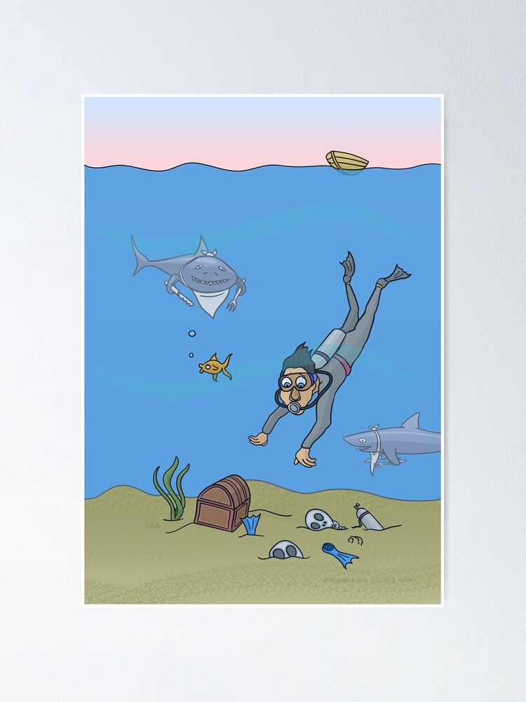 Alternate view of Deep Dish Diver Poster