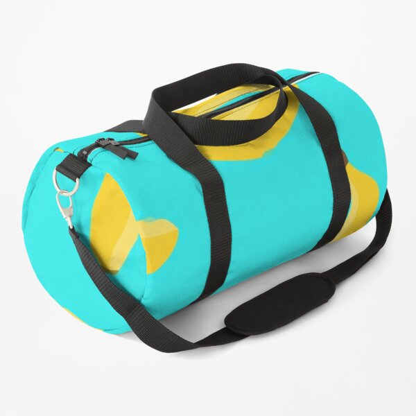 Watercolor gouache yellow lime pattern Duffle Bag