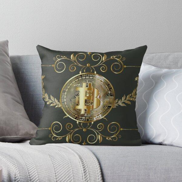 Bitcoin Gold Coin Throw Pillow