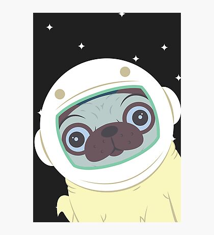 Pug in Space Photographic Print