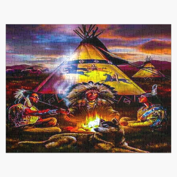 fwc 0646 native american Jigsaw Puzzle