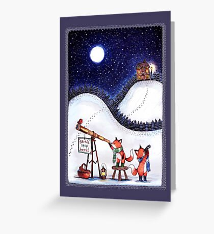 Santa Stop Here Greeting Card