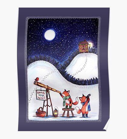 Santa Stop Here Poster