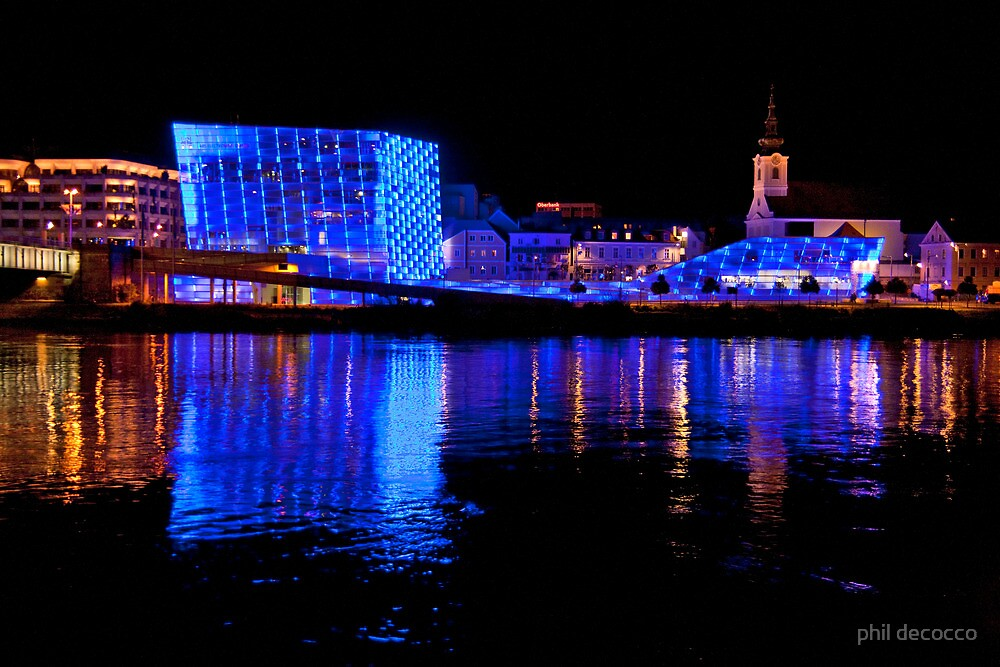 Ars Electronica And The Danube by phil decocco