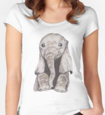 Baby Elephant Women's Fitted Scoop T-Shirt