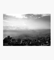 Lisbon - sea fog Photographic Print