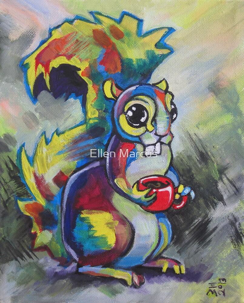 Coffee Squirrel 2 by Ellen Marcus