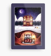 Christmas in the Burrow Metal Print