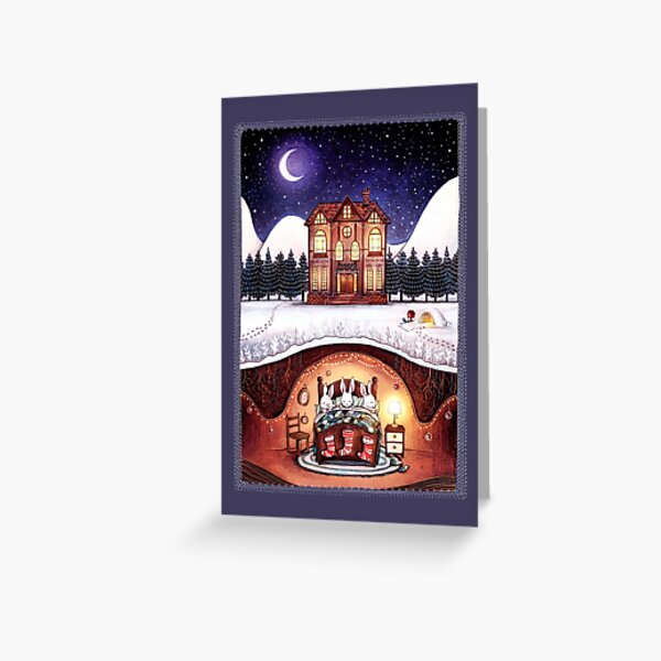 Christmas in the Burrow Greeting Card