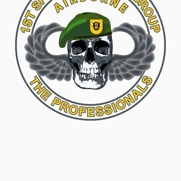1st Special Forces Group Skull by 5thcolumn