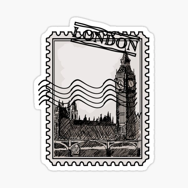 London Post Stamp Sticker