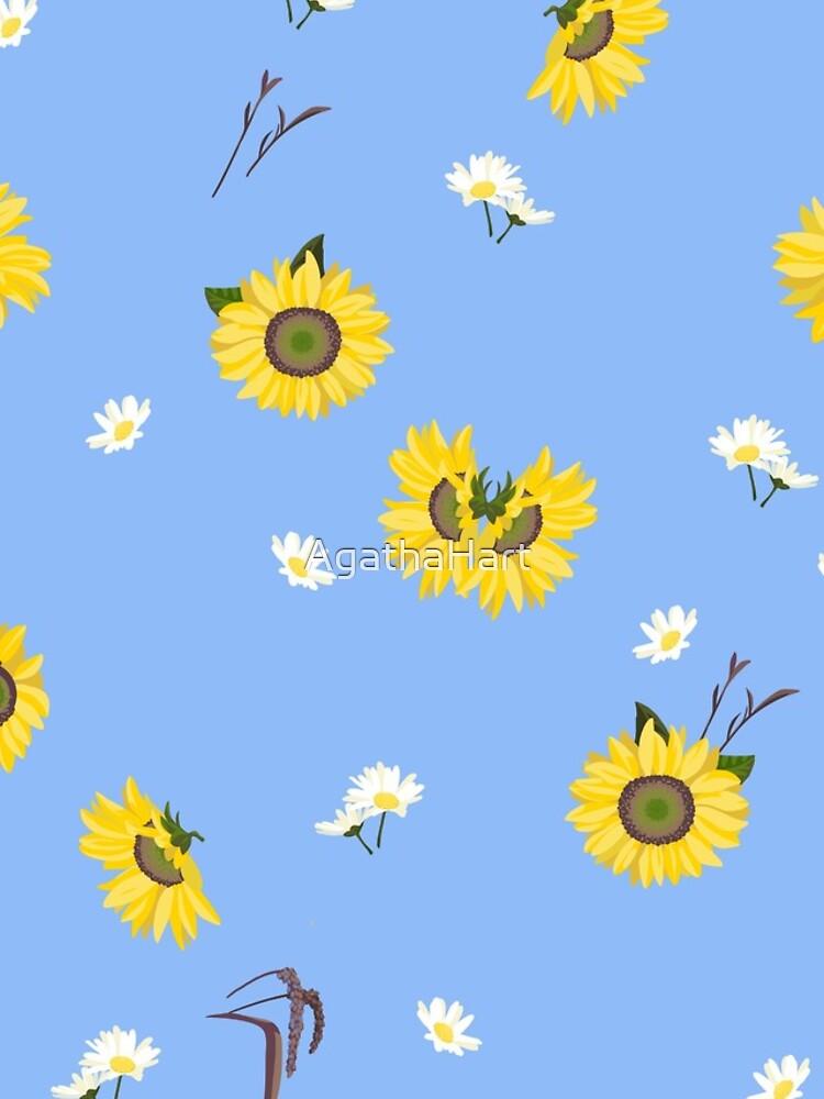 Summer Sunflower Pattern by AgathaHart
