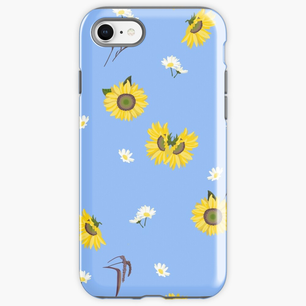Summer Sunflower Pattern iPhone Case & Cover