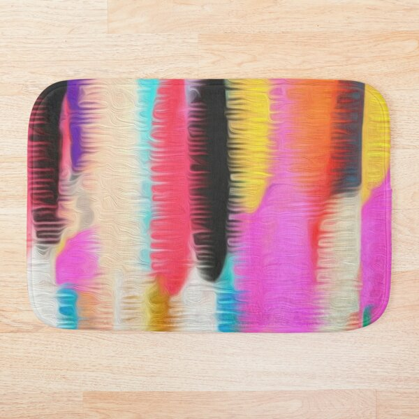 Neon Stripe Bath Mat