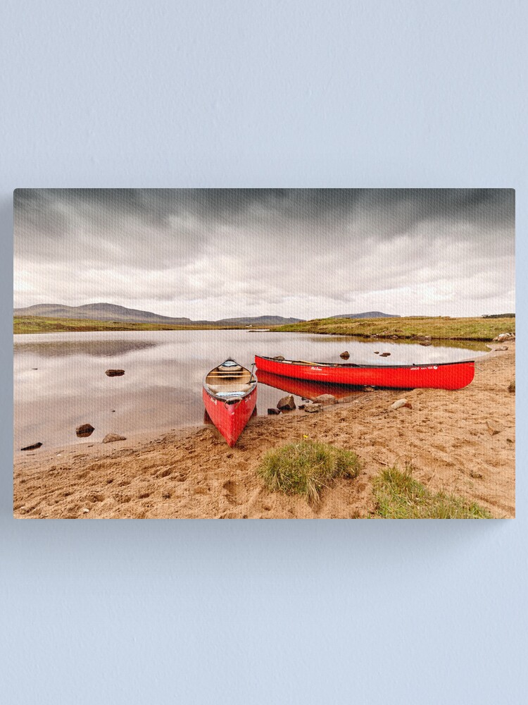 Alternate view of Red Canoes Canvas Print