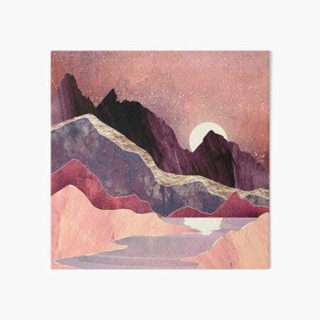 Blush Vista Art Board Print