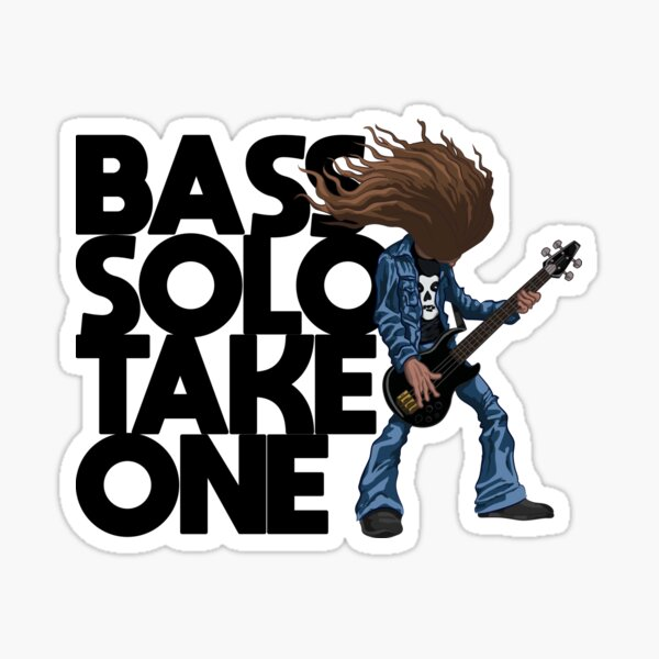 Bass Solo Cliff Sticker