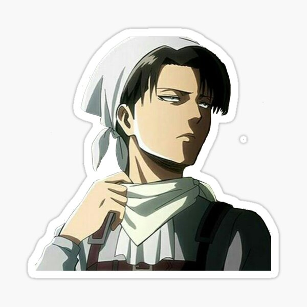 Levi Ackerman in his cleaning suit Sticker