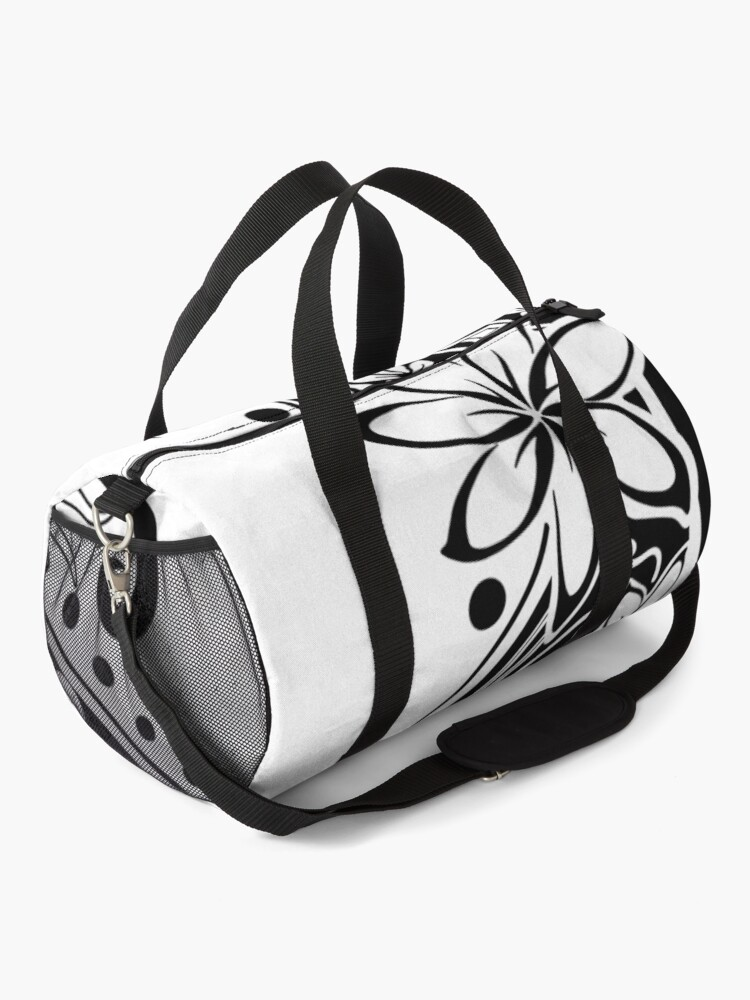 Alternate view of Polynesian Black And White Tribal  Duffle Bag