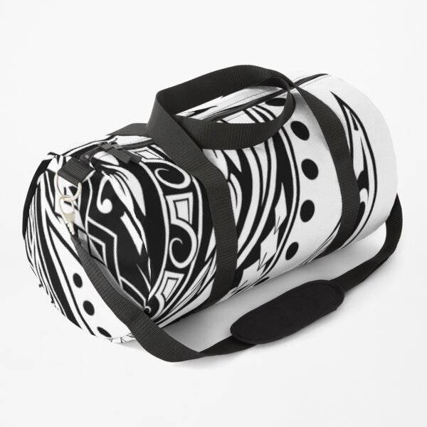 Polynesian Black And White Tribal  Duffle Bag