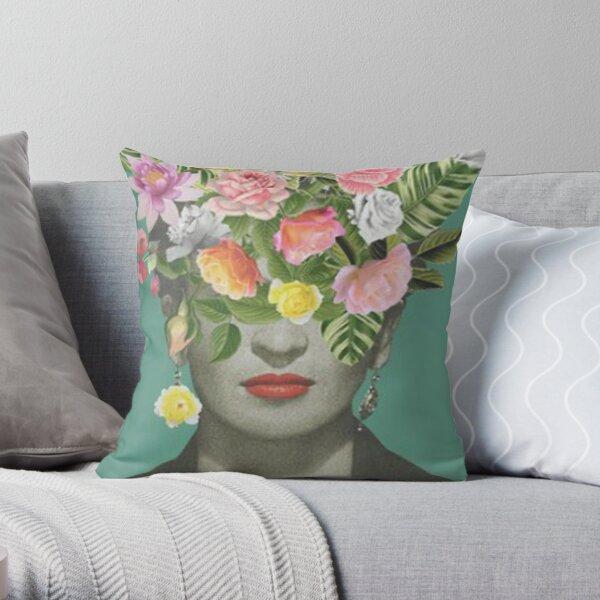 Frida khalo T shirt floral Coussin