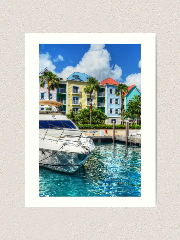 Marina Village At Paradise Island In The Bahamas Art Print By 242digital Redbubble