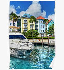 Marina Village at Paradise Island in The Bahamas Poster