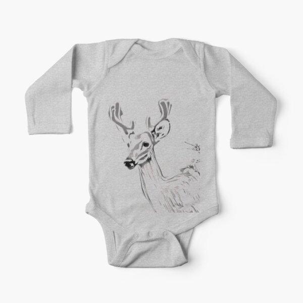 Buck Emerging Long Sleeve Baby One-Piece