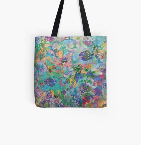 Watercolor Floral  All Over Print Tote Bag