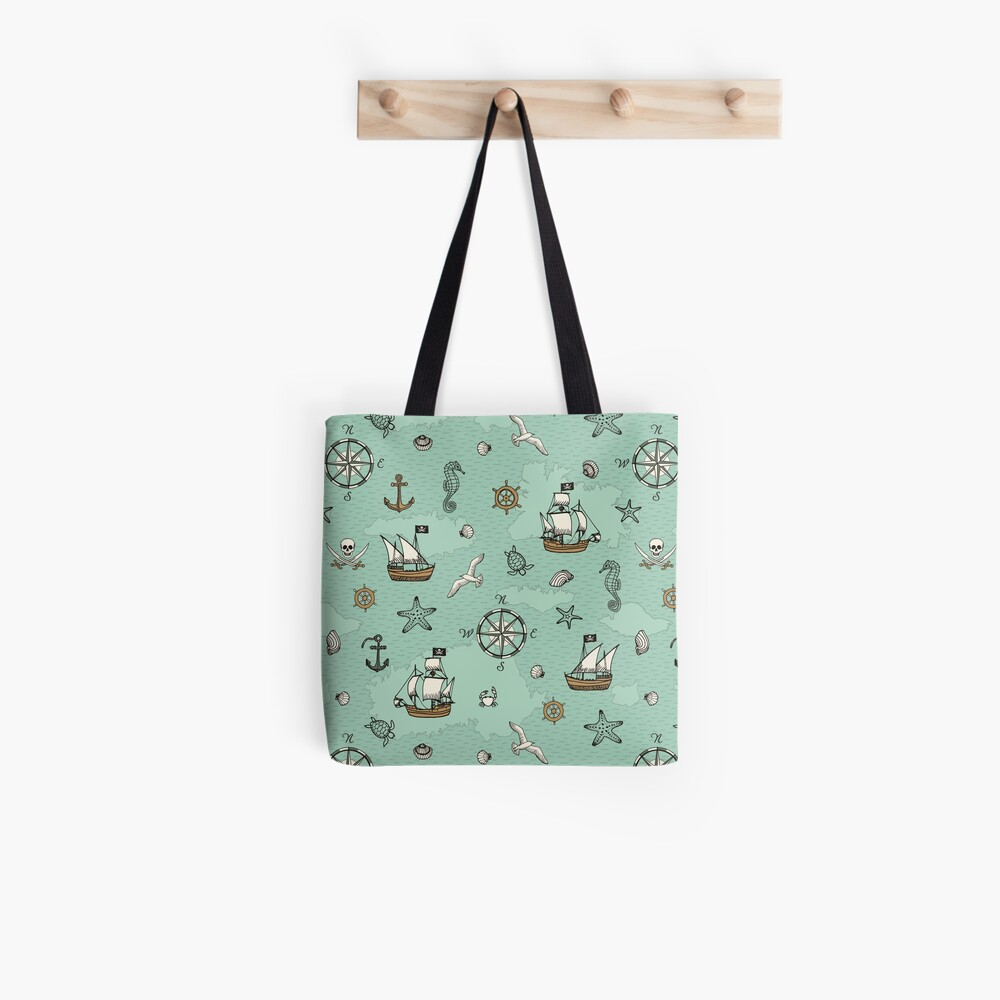 Pirate Sea (with stickers) Tote Bag