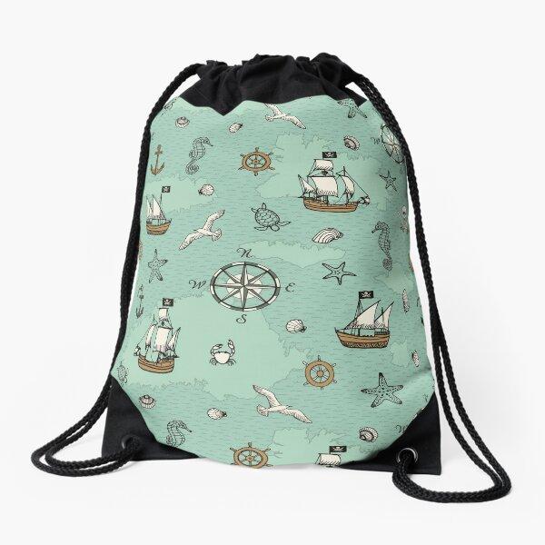 Pirate Sea Drawstring Bag