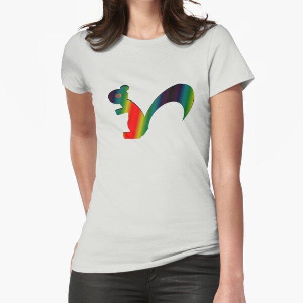 Psychadelic Rasta Squirrel Fitted T-Shirt