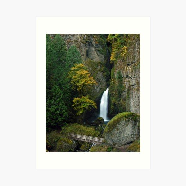 Wahclella Falls 3059_102706 Art Print
