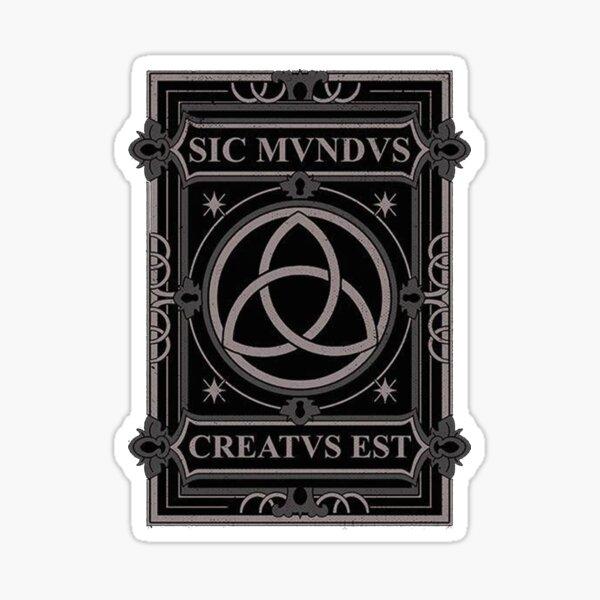 sic mundus creatus est Sticker
