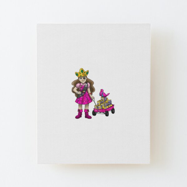 The Old Man and the Pirate Princess Meet a Dragon Wood Mounted Print