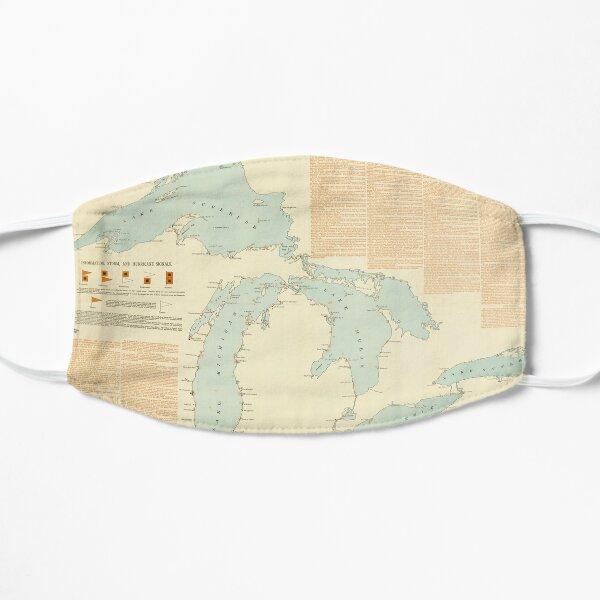 Vintage Great Lakes Shipwreck Map (1894) Flat Mask