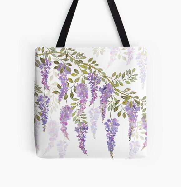 Wisteria Blossoms All Over Print Tote Bag