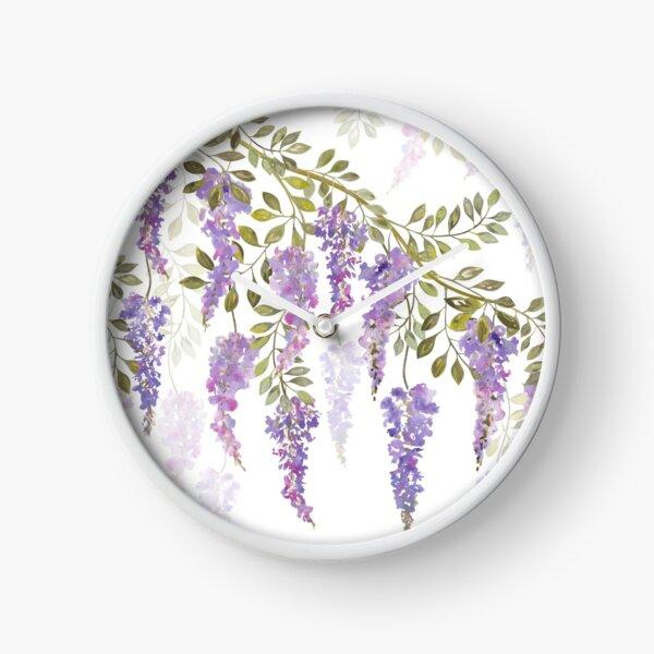 Wisteria Blossoms Clock