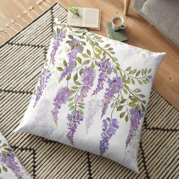 Wisteria Blossoms Floor Pillow
