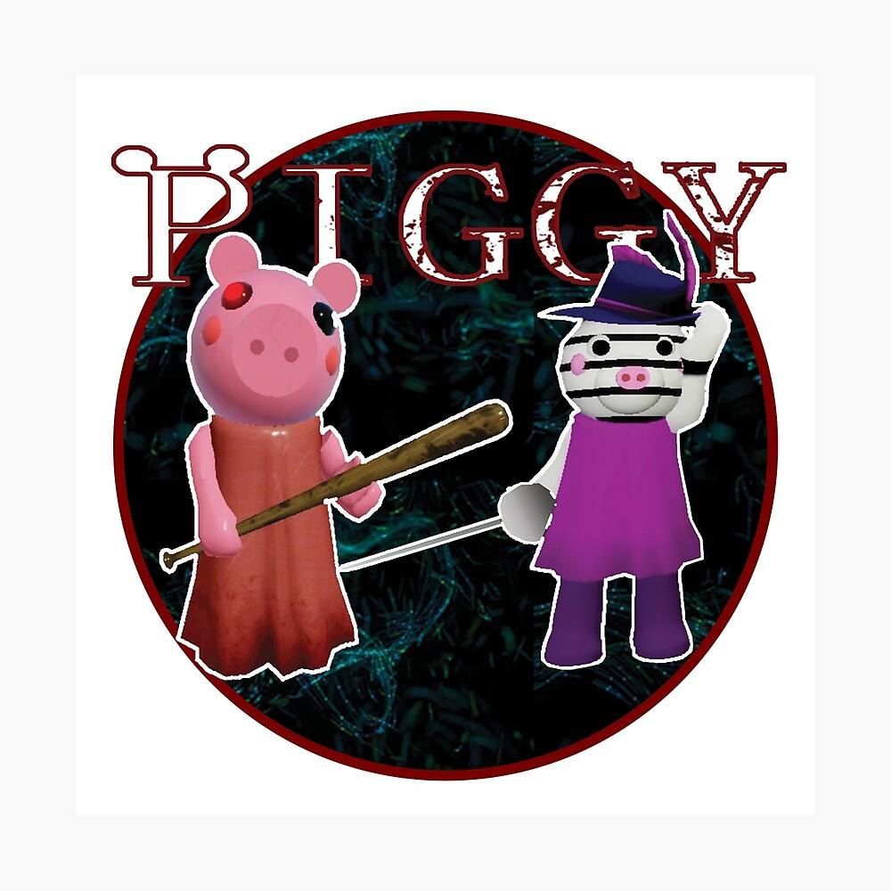 Roblox Piggy All Characters Fanart Piggy Roblox Roblox Game Roblox Characters Poster By Affwebmm Redbubble
