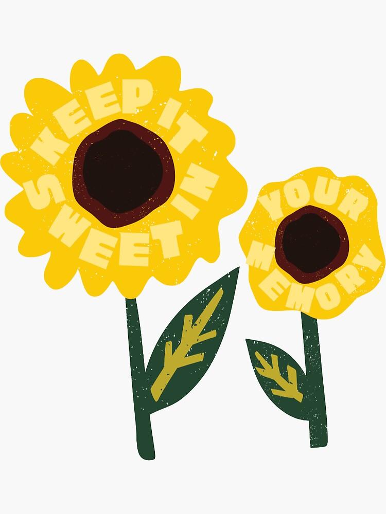"""sunflower, vol 6"" Sticker by byrileyjaye   Redbubble"