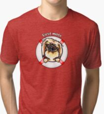 Pekingese :: First Mate Tri-blend T-Shirt